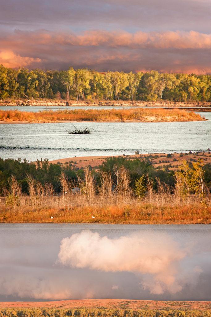 Missouri River Poem: Windy Fall Evening (detail)