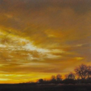 Blazing Skies 30x30, Pastel, 2014