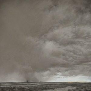 Arid Skies 30x30, Pastels, 2015 Permanent Collection of Museum of Nebraska Art